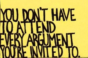 Do Not Attend EveryArgument