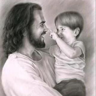 jesus stetch with little boy