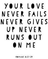 it never fails never gives up