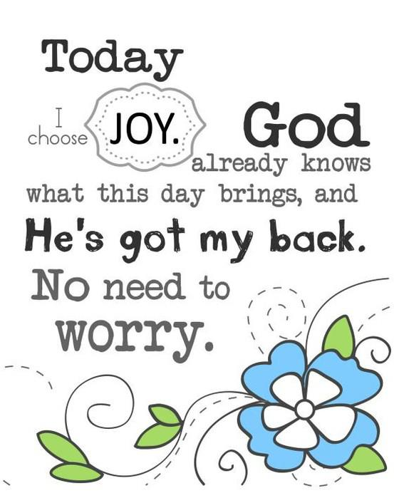 today choose joy