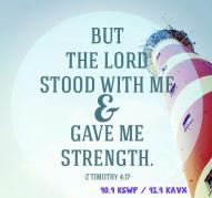 God stood with me