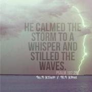 calmed the storm