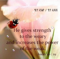 strength to the weary