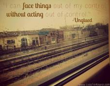 face things out of my control