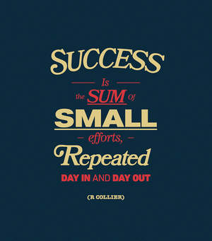 successisthesumofsmallsuccessesrepeateddaily