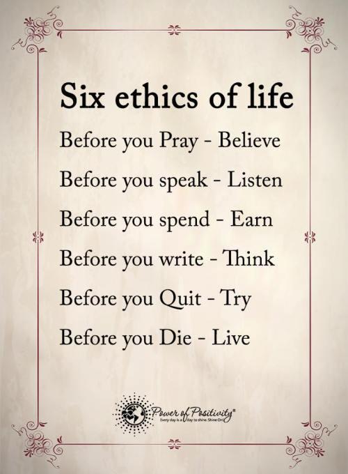 sixethicsoflife