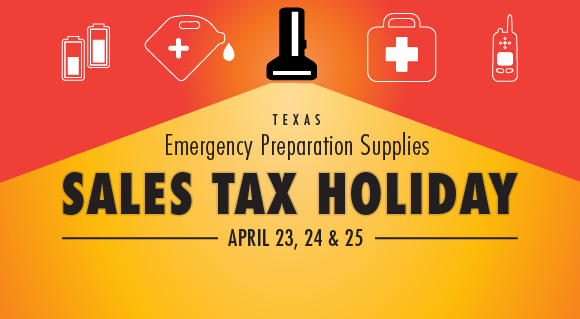 Emergency Preparation Supplies Sales Tax Holiday