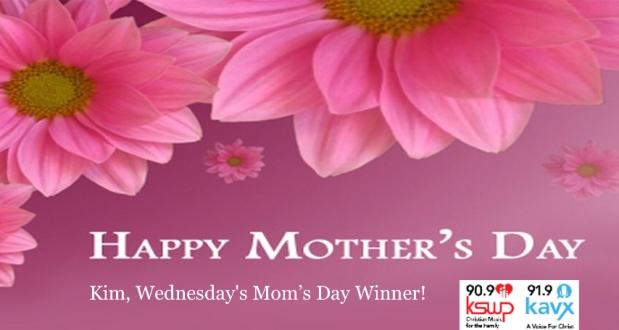 Wednesday's Mom's DayWinner!