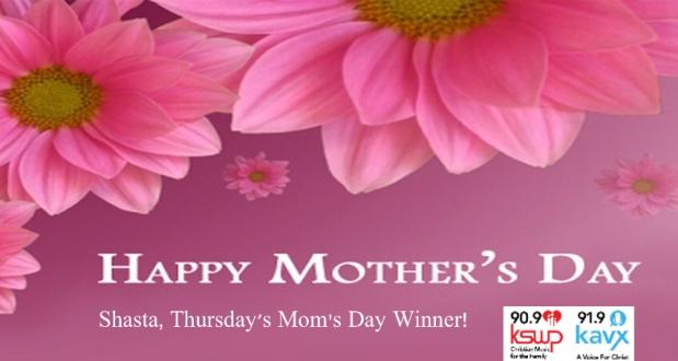 Thursday's Mom's DayWinner!