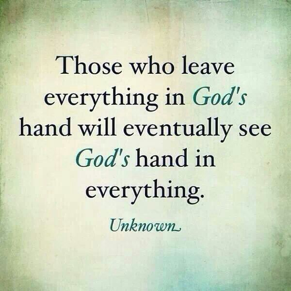 God's Hands inEverything