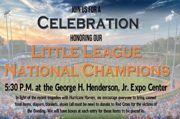 Lufkin Little League National ChampionsCelebration
