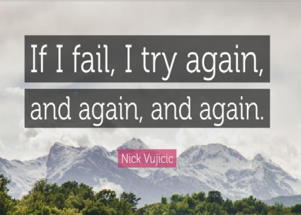 Try again, again,again…
