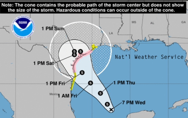 Tropical Storm Harvey Forecast